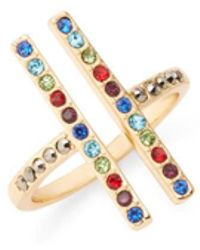 Rebecca Minkoff - Parallel Lines Ring - Lyst