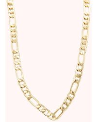 Rebecca Minkoff Medium Figaro Chain Necklace - Metallic