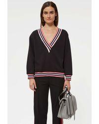 Rebecca Minkoff - Kristine Sweatshirt With Stripes - Lyst