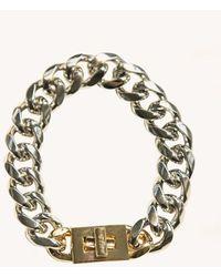 Rebecca Minkoff Padlock Curb Chain Bracelet - Metallic