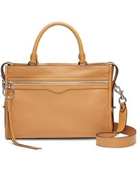 Rebecca Minkoff Bedford Zip Satchel - Brown