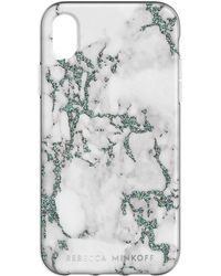 Rebecca Minkoff - Black Glitter Marble Case For Iphone Xr - Lyst