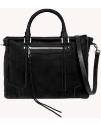 Rebecca Minkoff Regan Satchel Tote - Black