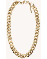 Rebecca Minkoff Curb Chain Collar Necklace - Metallic