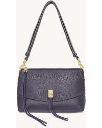 Rebecca Minkoff Darren Top Zip Shoulder Bag - Blue
