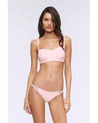 Rebecca Minkoff Brooklyn Bandeau Swim Top - Pink