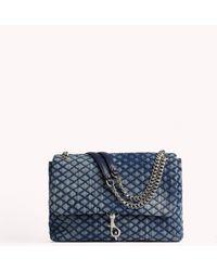 Rebecca Minkoff Edie Flap Shoulder Bag - Blue