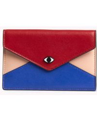 Rebecca Minkoff Leo Zip Card Case With Eye Stud - Multicolor