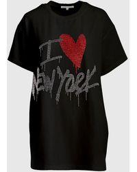 Rebecca Minkoff New York Crystal T-shirt - Black