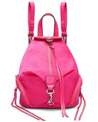 Rebecca Minkoff Convertible Mini Julian Backpack - Pink