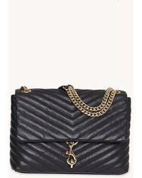Rebecca Minkoff Edie Flap Shoulder Bag - Black