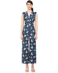 Rebecca Taylor - Emilia Print Silk Jacquard Jumpsuit - Lyst