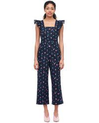 Rebecca Taylor - Farren Flower Linen Jumpsuit - Lyst