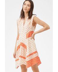 Rebecca Taylor - Block Print Mix Dress - Lyst
