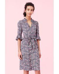 Rebecca Taylor - Twilight Bloom Silk Twill Dress - Lyst