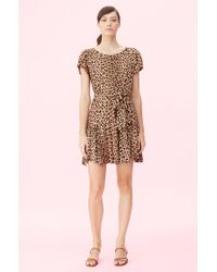 Rebecca Taylor Spring Leopard Jersey Dress - Multicolour