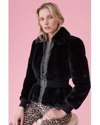 Rebecca Taylor - Faux Fur Jacket - Lyst