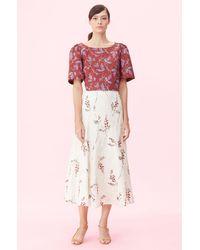 Rebecca Taylor - Ivie Fleur Embroidered Skirt - Lyst