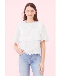 Rebecca Taylor - La Vie Embroidered Linen Top - Lyst