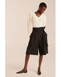 Rebecca Taylor Tie Waist Short - Black