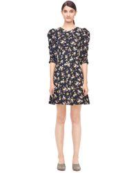 Rebecca Taylor | La Vie Winter Posey Print Silk Twill Dress | Lyst