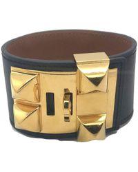 """Hermès """"Collier de Chien Bracelet"""" - Schwarz"""