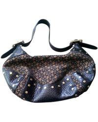 Donna Karan Schultertasche mit Logo-Muster - Braun