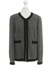 Chanel Jacke mit Zierborten - Grau