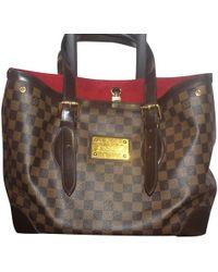 Louis Vuitton Handtasche aus Damier Ebene Canvas - Braun