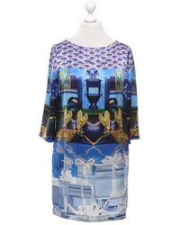 Mary Katrantzou Kleid aus Seide - Blau