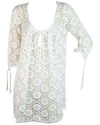 MILLY Kleid aus Baumwolle - Weiß