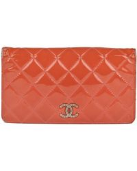 Chanel Täschchen/Portemonnaie aus Lackleder - Mehrfarbig