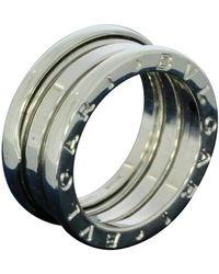 BVLGARI Ring aus Weißgold - Mettallic