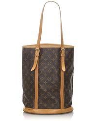 Louis Vuitton Bucket Bag 27 aus Canvas - Braun
