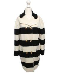 Moschino - Jacke/Mantel aus Wolle - Lyst