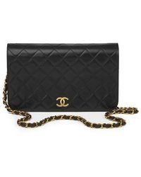 Chanel Flap Bag aus Leder - Schwarz
