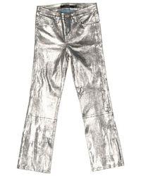 J Brand Jeans aus Leder - Mehrfarbig
