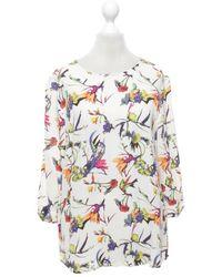 Essentiel Antwerp Bluse mit floralem Muster - Weiß