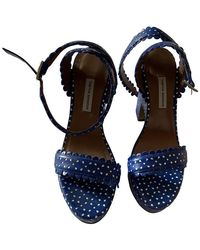 Tabitha Simmons Sandalen aus Leder - Blau