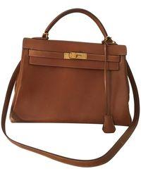 Hermès Handtasche aus Leder - Natur