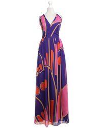 Issa Maxi-Abendkleid aus Seide - Lila