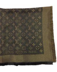 Louis Vuitton Schal/Tuch aus Seide - Braun