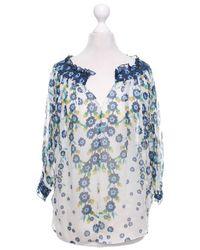 Diane von Furstenberg Bluse mit floralem Muster - Blau