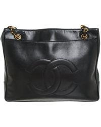 Chanel Umhängetasche aus Leder - Schwarz