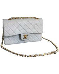 Chanel Classic Flap Bag aus Leder - Natur