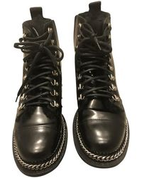 Balmain Stiefeletten aus Leder - Schwarz