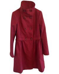 Love Moschino - Jacke/Mantel aus Wolle - Lyst