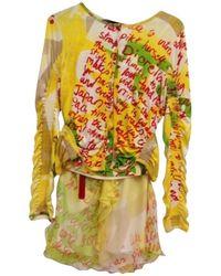 Dior Dreiteiliges Kostüm - Gelb