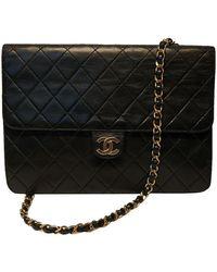 Chanel Classic Flap Bag aus Leder - Schwarz