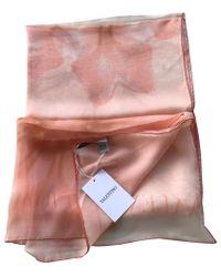 Valentino Seidenschal mit Muster - Pink